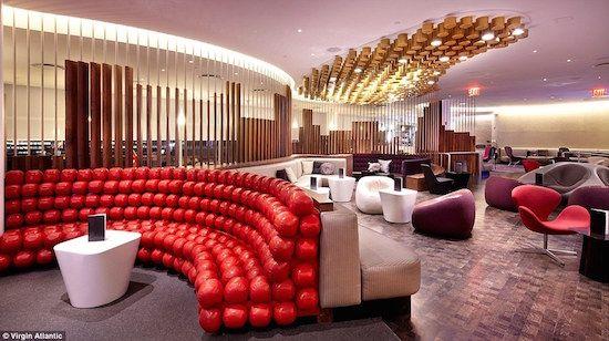 海外空港ラウンジデザイン/Virgin Upper Class Lounge at JFK, New York