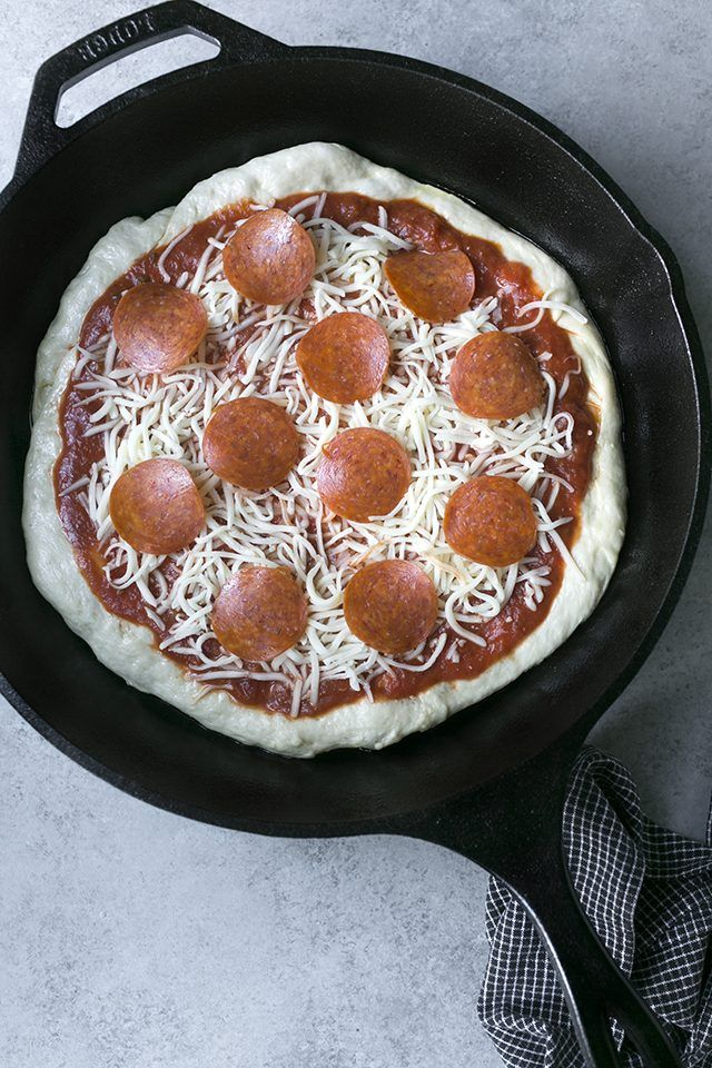 Cast iron skillet pizza is perfect for those who love a thick crust that's crispy on the outside and soft on the inside.