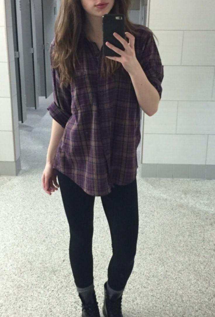 Purple plaid shirt? Yes please!