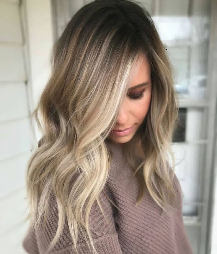 Shoulder length hairstyles, balayage hair