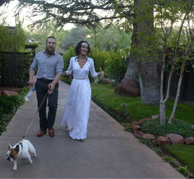 Daniel Bryan and Brie Bella. Wedding in Sedona.