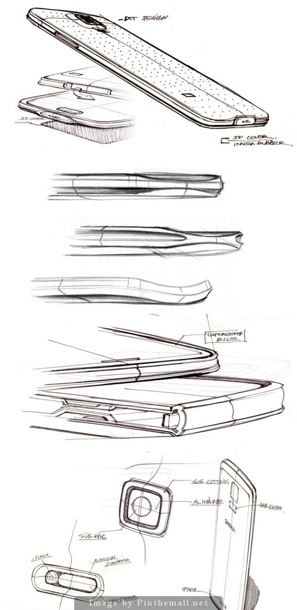 Galaxy S5 sketches #id #design #product #sketch