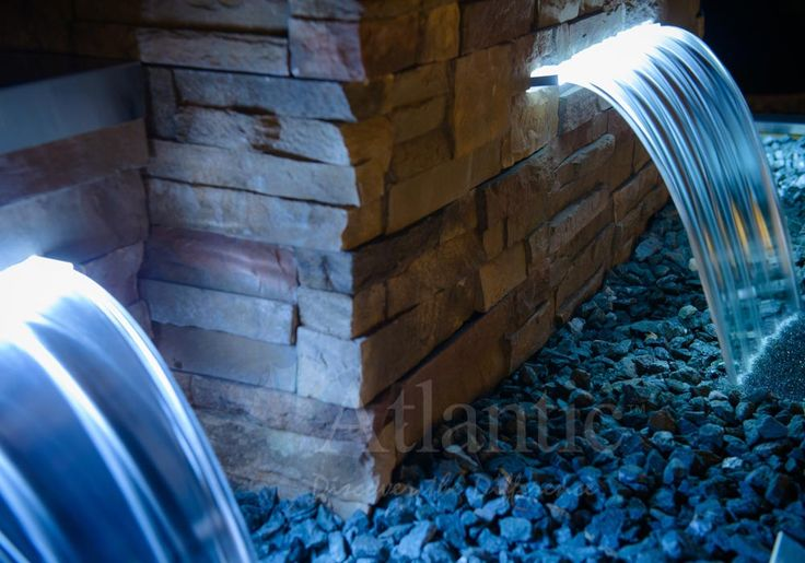 1000 images about colorfalls lighted spillway on for Urban waterfall design
