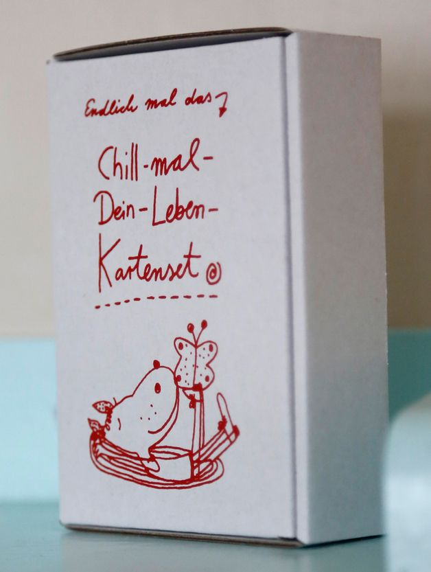 Chill-mal-Dein-Leben-Kartenset // relax cards via DaWanda.com // 14,90€