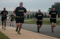 FILE PHOTO -- Soldiers assigned to the 3d U.S. Infantry Regiment (The Old Guard) participate in a group run to the 9/11 memorial at the Pentagon in Arlington, Va., Sept. 19, 2017. (Photo Credit: Pvt. Lane Hiser)