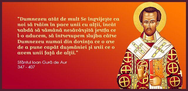 Sf. Ioan Gură de Aur - Dumnezeu dorește ca toți să trăim în pace unii cu alții