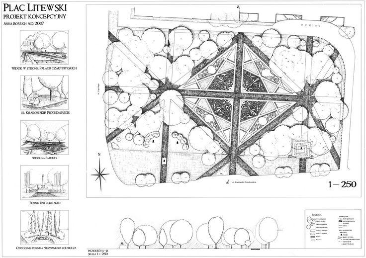 Projekt koncepcyjny Plac Litewski w Lublinie / #concept #project #citypark