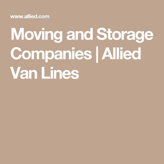Moving and Storage Companies | Allied Van Lines