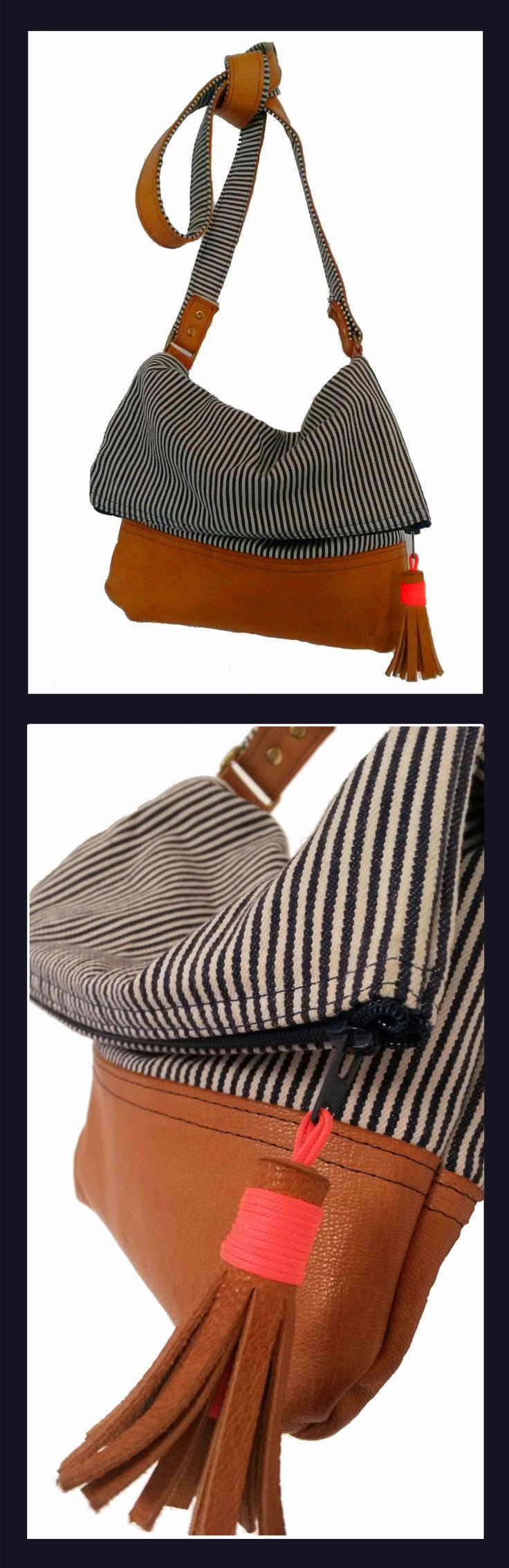 sannyzitophawaii - fold over bag leather project