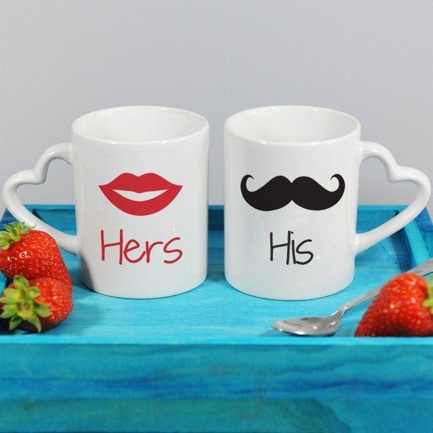 His & Hers - Kubki dla par - MyGiftDna - Kubki i filiżanki #dawandawalentynki