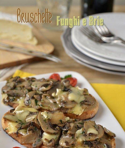 Mini bruschette funghi e brie
