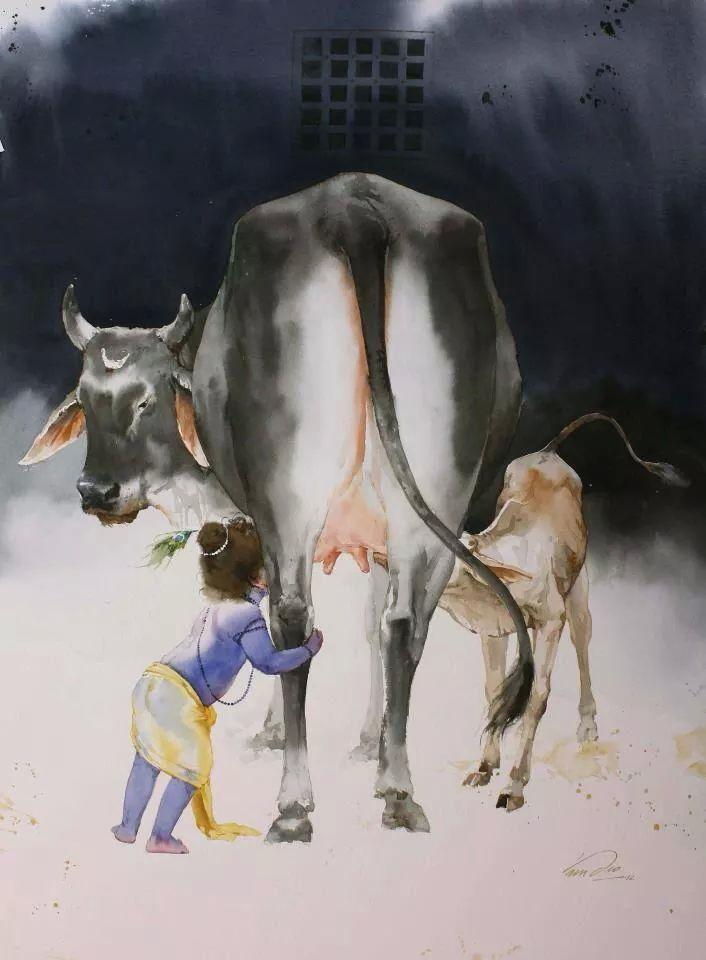 Lord Krishna, Cow, Devotion, Spirituality