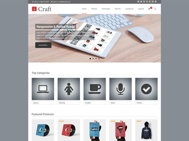 The i-craft responsive WooCommerce ecommerce multipupose theme packed with features like product carousels, unlimited color, boxed/wide layout, product search, http://jabirah.com/m/i-craft-woocommerce-responsive-wordpress-themes.html