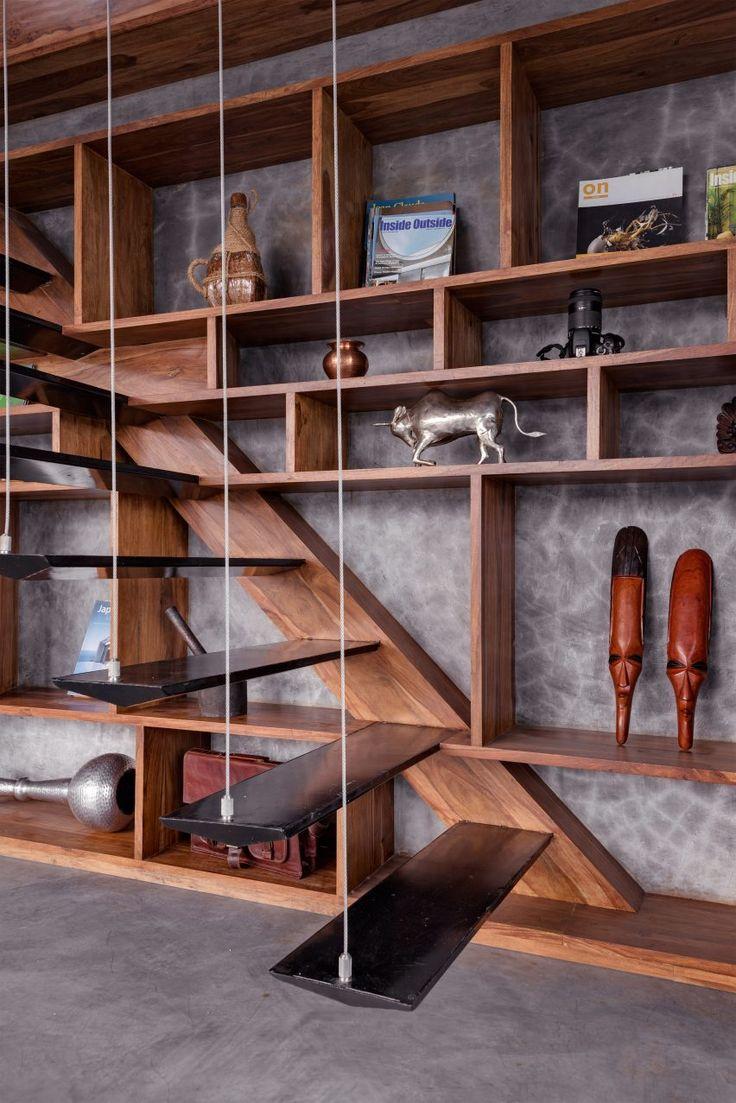 Studio Course mimics traditional veranda in revamped penthouse apartment in Pune, India