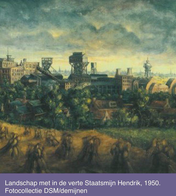 Schilderij van Staatsmijn Hendrik, 1950