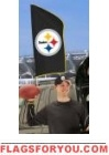 "Steelers Tailgate Flag 42"" x 20"""