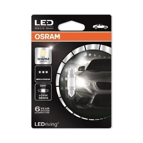 2x Osram Original Number Plate Light Bulbs License Lamps Genuine