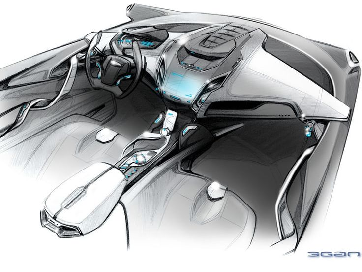 jemangeunepomme:    Ford iosis max interior sketch