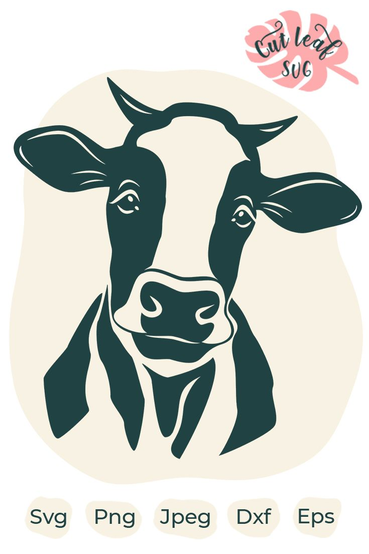 Cute Cow Svg : Heifer, Country, Clipart,, Animal, Head,