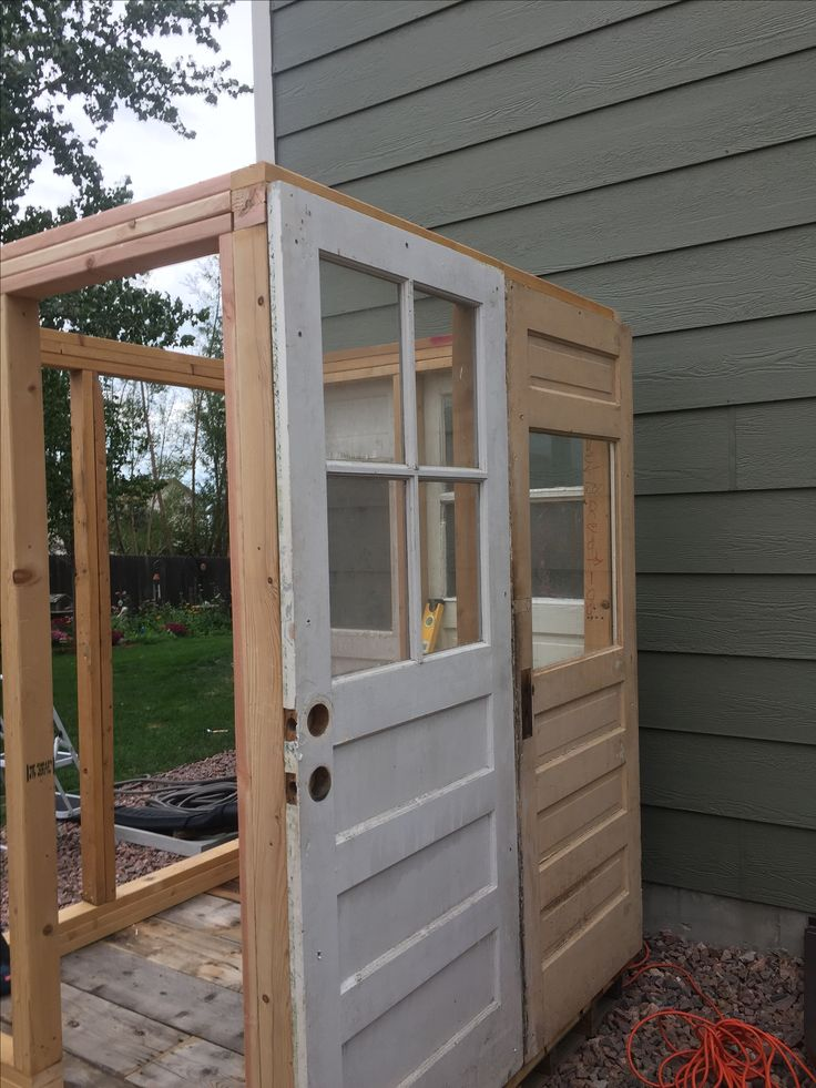 old recycled doors for garden shed - Garden Sheds From Recycled Materials