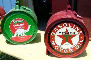 dated 1924 oil drums - ohio $165 each CHOICE TEXACO OR SINCLAIR