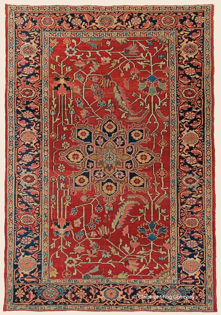 """SERAPI, Northwest Persian Antique 4' 10"""" x 6' 9"""" — Circa 1900 Rug - Claremont Rug Company Click to learn more about this rug."""