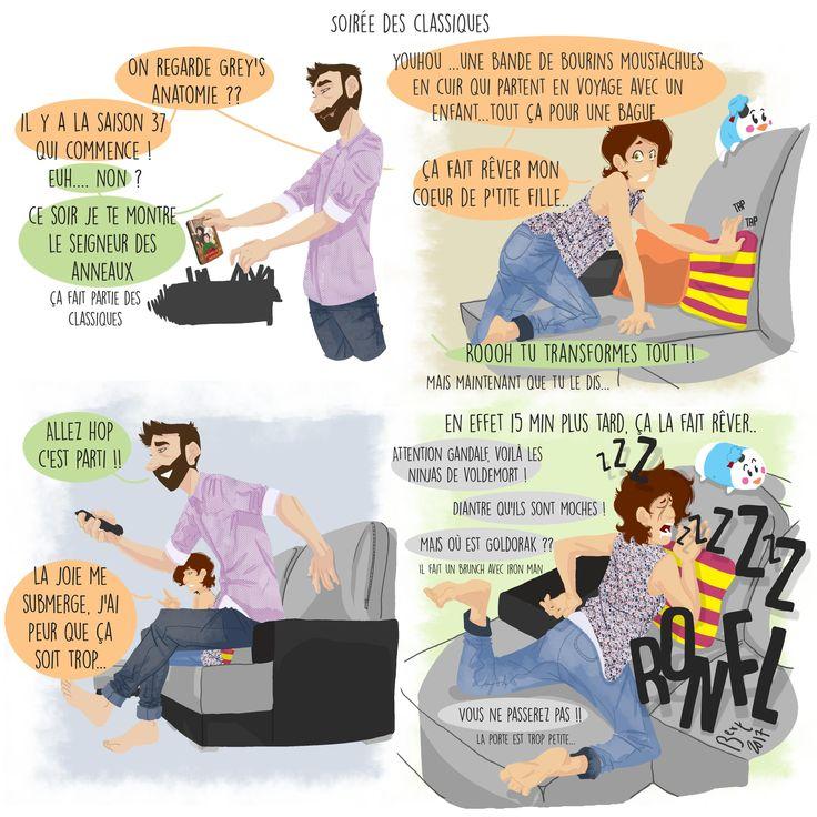 Monsieur Pipelette - humour - le choix des films dans un couple est pas toujours facile.. :D