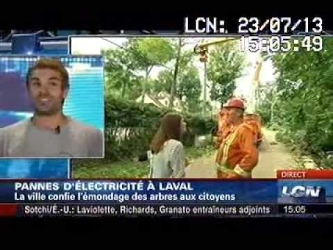 Arboplus à LCN - Michael Pinard - Émondeur à Laval - TVA Nouvelles
