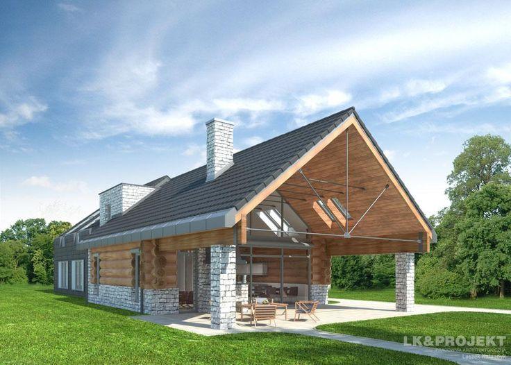 Projekty domów LK&Projekt LK&739 wizualizacja 3