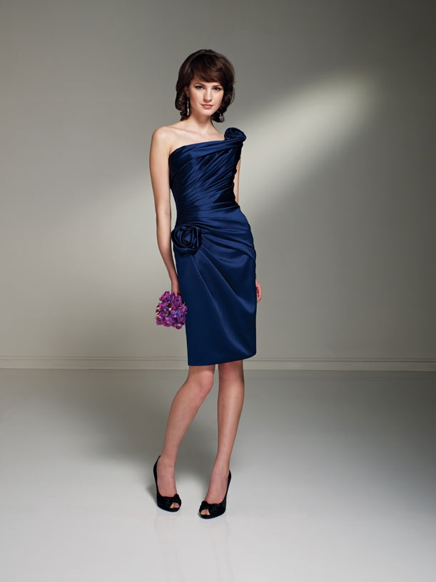 Ink Blue Bridesmaid Dress by Sophia Tolli