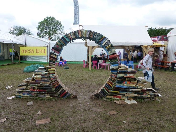 Clever book engineering at the Hay literary festival.