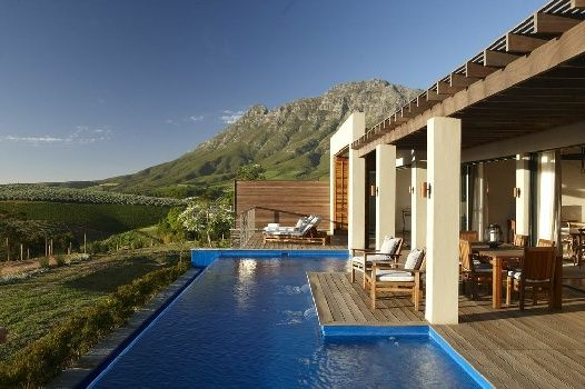 The top-notch Delaire Graff Lodges and Spa, Hellshoogte Pass, Stellenbosch Winelands, South Africa