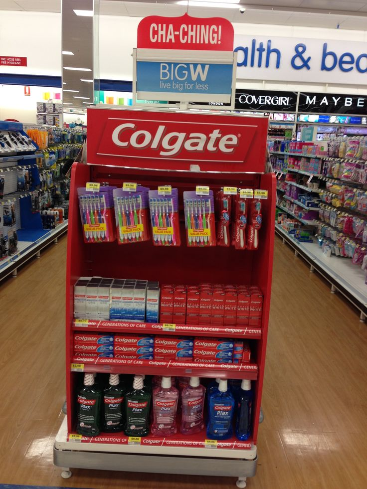 Colgate promotional (old style) gondola end in Big W ...