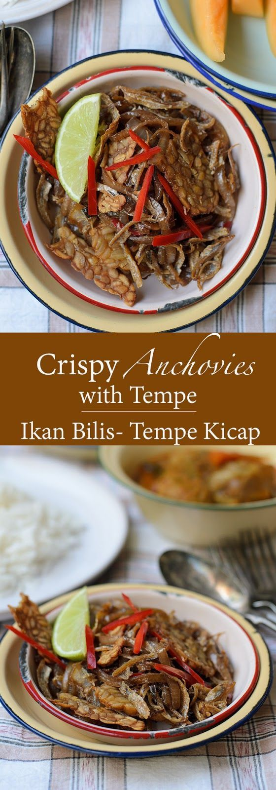 Crispy Anchovies with Tempe, best eaten with steaming hot jasmine rice.