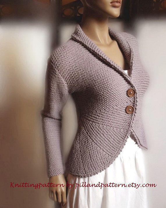 Blazer jacket Sweater PDF knitting pattern by PillandPattern