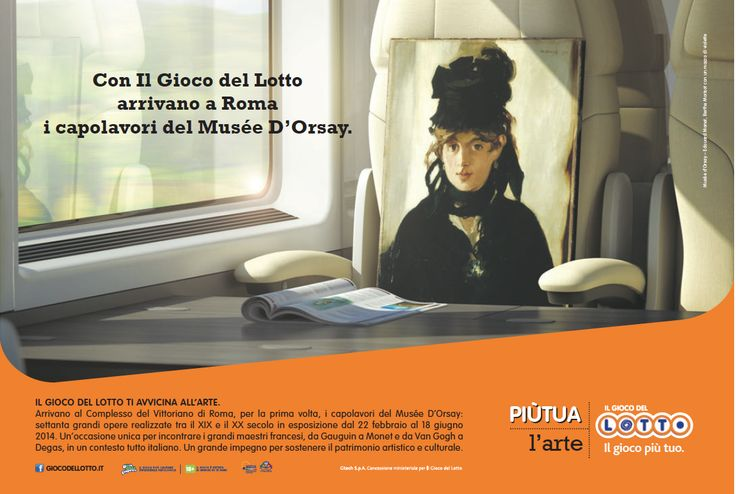 """Il Gioco del Lotto - Sponsor Campaign  -Expo """"Musée d'Orsay to Rome"""" by JWT Rome"""