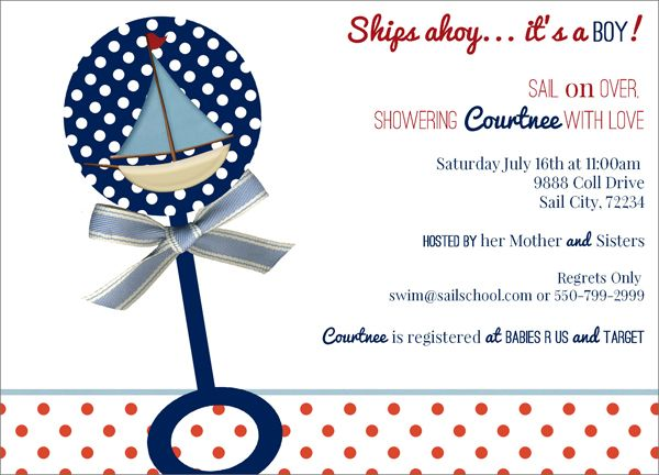 Ships Ahoy Itu0027s A Boy Baby Shower Invite!