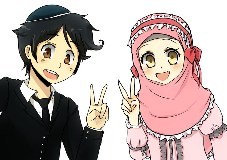 anime manga hijab art