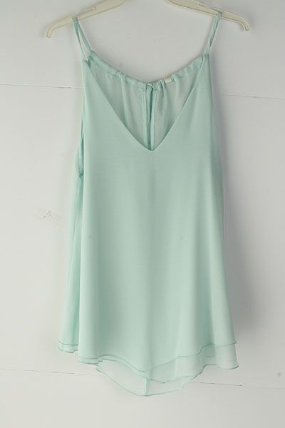 Pale Mint Chiffon Top. Absolutely love this!!