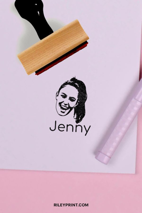 Your Stamp Custom made portrait stamps Your Photo