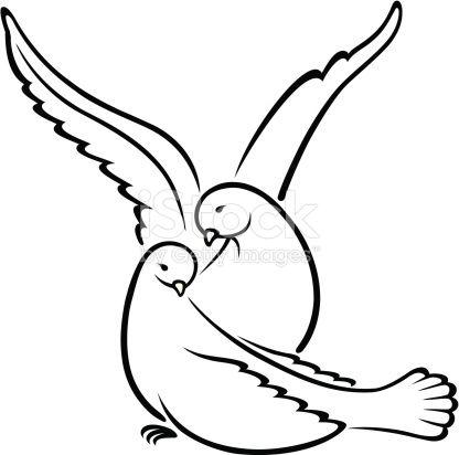 Свадебные белые голуби, любовь