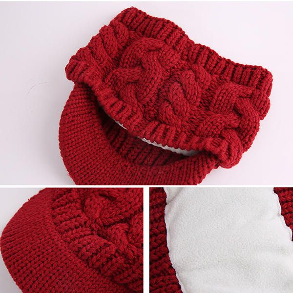 Winter Knitted Beanie Solid Earmuffs Caps And Scarves at Banggood
