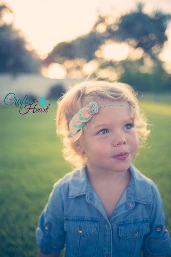 Felt Feather Headband Layered Felt Flower by PACraftsfromtheHeart