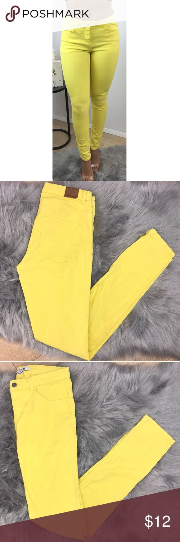 Forever 21 Yellow Skinny Jean Forever 21 gorgeous yellow skinny jeans, have been gently used. No stains (exactly as shown in pictures) Forever 21 Jeans Skinny