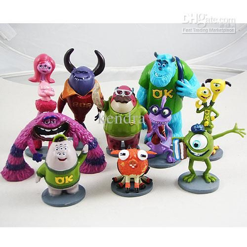 Wholesale 10pc Monsters Inc 5-10cm Mike Wazowski Sulley Randall Boggs PVC Figure, Free shipping, $1.48/Piece | DHgate.
