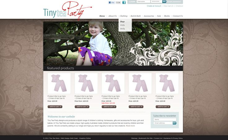 Website design for Tiny Tea Party. #websitedesign #webdesign #web #design #graphicdesign #website #websites