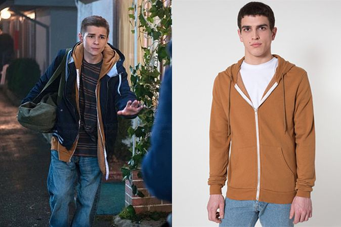 "Young Dean Winchester (Dylan Everett) wears an American Apparel Dov's Hoodie in the color Faded Camel in Supernatural Season 10 Episode 12 ""About a Boy."" #youngdean #deanwinchester #supernatural #cw"
