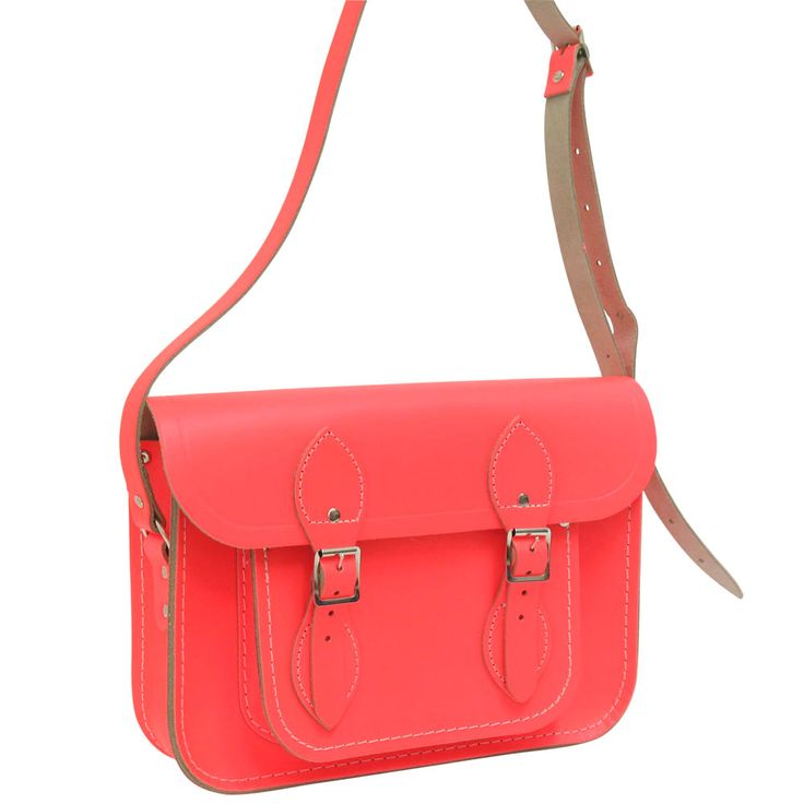 Cambridge Satchel 11 inch fluoro red from Paperchase