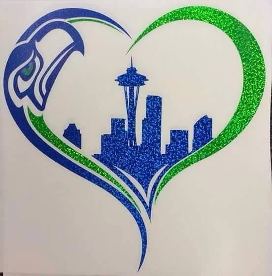 Seahawks tattoo // this would be a cute tattoo! Your city & team!