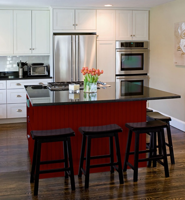 Shaker Kitchen Cabinets | Rockford Door Style | CliqStudios Contemporary  Kitchen. Red, Black And Part 58